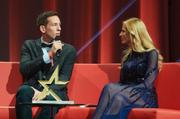 Marco Lehmann im Gespräch mit Moderatorin Christa Rigozzi (Bild: Die Mobiliar)