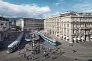 Gelangen Bankdaten vom Zürcher Paradeplatz bald automatisch nach Russland? (Bild: Gaëtan Bally/Keystone (Zürich, 4. Oktober 2016))