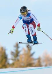 Fabienne Suter fliegt an den Schweizermeisterschaften in Veysonnaz zu Gold. (Bild: Keystone / Anthony Anex)