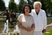 Hans Erni mit seiner Frau Doris. (Bild: Photopress)