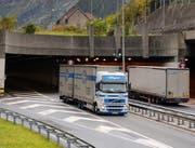 Die Einfahrt zum Gotthardtunnel auf der Urner Seite. (Bild Boris Bürgisser/Neue LZ)