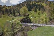 Die Chrutacherbrücke verbindet die Gebiete Hinterlamm und Chrutacher in Flühli. (Bild: google maps / Screenshot)
