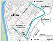 Erweiterung der Cheerstrasse in Littau: Diese neue Strassenführung ist geplant.