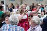 Feiern für einen guten Zweck: Sängerin Diana bei ihrem Auftritt 2014 beim Kapellplatz. (Bild: Pius Amrein)