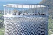 So könnte die Besucherplattform des Wärmespeichers aussehen. (Bild: PD)