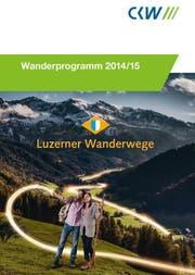 Das neue Wanderprogramm der CKW. (Bild: Prospekt-Cover, pd)