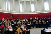Die Jugendlichen tagten im Kantonsratssaal.