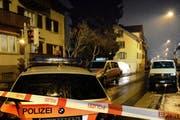 Blick auf den Tatort an der Schachenstrasse. (Bild: Nadia Schärli (Kriens, 20. Januar 2014))