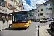 Ein Postauto, unterwegs auf der Linie von Beckenried nach Stans. (Bild Corinne Glanzmann)