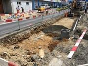 Einbau der Werkleitungen (Bild: PD)