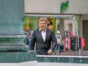 Ignaz Walker beim Gang zur Urteilsverkündung am vergangenen Montag in Altdorf. (Bild Pius Amrein)