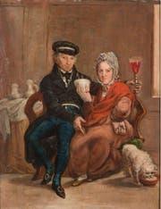 Trinkendes Paar mit Hund, 1819. (Bild: pd)