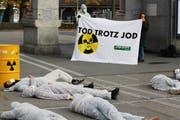 Die Jungen Grünen demonstrierten am Samstag gegen Atomstrom. (Bild: Junge Grüne)