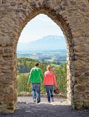 Ein Geheimtipp im Seetal: Von der Burgruine Nünegg in Lieli geniesst man einen schönen Rundblick.