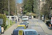 Auf der Spitalstrasse kommen die Busse am schlechtesten vorwärts. (Bild: Pius Amrein (Luzern, 17. März 2015))