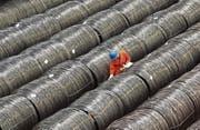 2,9 Prozent der US-Stahlimporte stammen direkt aus China. (Bild: Getty (Dalian, 15. Mai 2017))