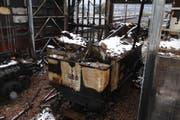 Die Dampflokomotive HG 3/3 1068 nach dem Brand. (Bild: pd)
