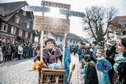 Auf die Schippe genommen: Das neue Altersheims Murhof. (Bild: Nadia Schärli (Roggliswil, 4. Februar 2018))