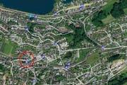 Der Unfall ereignete sich im Zentrum Wolleraus. (Bild: search.ch)