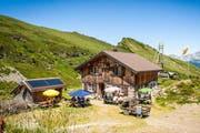 Zu Besuch auf der Alp Grat. (Bild: PD / Roland Häusermann)