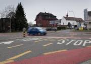 Die Situation bei der Geuenseestrasse - Ringstrasse. (Bild: Corinne Glanzmann (Sursee, 15. März 2018))
