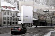Die Gütschbahn soll eine markante Talstation an der Baselstrasse erhalten. (Visualisierung Marques AG + Architekturbüro Iwan Bühler GmbH; siehe auch Bild unten)