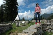 Anita Durrer ist die Wirtin vom Berggasthaus Älggialp. Der geografische Mittelpunkt der Schweiz erfreut sich am 1. August besonderer Beliebtheit. (Bild: Nadia Schärli / Neue LZ)