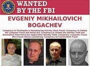 Das Fahndungsplakat, mit dem das amerikanische FBI weltweit nach Mikhailovic Bogachew sucht. (Bild: PD)