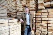 Holzhändler Albert Sigrist will für die SVP in die Regierung. (Bild: Corinne Glanzmann / Neue OZ)