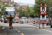 In der Stadt Zug folgen in der nächsten Zeit diverse Sanierungs- und Bauvorhaben an - unter anderem auch auf der Artherstrasse (Bild). (Bild: Stefan Kaiser / Neue ZZ)