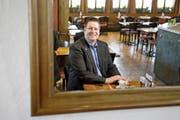 Die Lieblingsbeiz von Peter With (SVP): Im Restaurant Schützenhaus auf der Allmend hält die SVP jeweils Parteiversammlungen und Fraktionssitzungen ab. (Bild: Corinne Glanzmann)