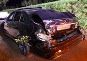 Das Auto erlitt beim Unfall Totalschaden. (Bild: Luzerner Polizei)