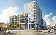 So soll das neue Gebäude am Centralplatz in Emmenbrücke aussehen. (Bild: Visualisierung PD)