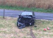 An diesem Unfallauto entstand Totalschaden. (Bild: Luzerner Polizei)