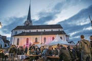Der Dorfplatz bleibt das Herzstück der Stanser Musiktage. (Bild: André A. Niederberger)