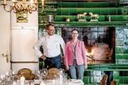 Markus und Susy Sager-Meyerhans im prämierten «Rössli» in Adligenswil. (Bild: Nadia Schärli (9. Oktober 2017))