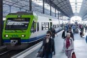 Der Zug des Typs Nina im Bahnhof Luzern. (Bild: PD)