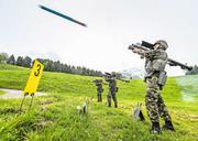 Soldaten üben den Umgang mit der Einmann-Lenkwaffe Stinger (Bild links), oben rechts die Flab-Lenkwaffe Rapier, rechts unten eine 35-mm-Fliegerabwehrkanone 63/90. (Bild: vbs)