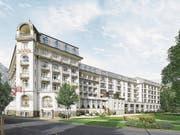 So soll das Hotel Titlis Palace nach Renovation und Umbau dereinst aussehen. (Bild: Visualisierung PD)