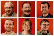 Die Nominierten (oben, von links): Peter Gabriel, Claudia Moser, Louis Palmer. Roman Pechous, Karin von Moos, Sascha Welz (untere Reihe). (Bilder pd)