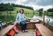 Erika Burkard (52) war 23 Jahre lang Fährfrau auf dem Rotsee. (Bild: Dominik Wunderli (Luzern, 14. Juli 2017))