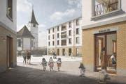 Im Zentrum soll es einen neuen Marktplatz geben. (Bild: Visualisierung nightnurse images GmbH)