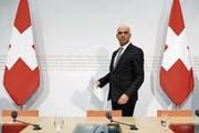 «Jedes Jahr warten kostet mehr», sagte Innenminister Alain Berset gestern vor den Medien. (Bild: Peter Klaunzer/KEY (Bern, 2. März 2018))