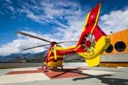Ein Helikopter der Air Glacier im Einsatz. (Symbolbild Keystone)