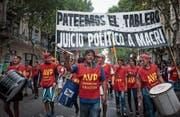 Protestmarsch gegen die Wirtschaftspolitik von Präsident Mauricio Macri. (Bild: Gabriel Sotelo/Getty (Buenos Aires, 30. März 2017))