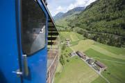 Wird oft von Touristen benutzt: Die Seilbahn Mettlen - Hinter Rugisbalm in Grafenort. (Bild: Urs Flüeler / Keystone (Grafenort, 15. Mai 2017))