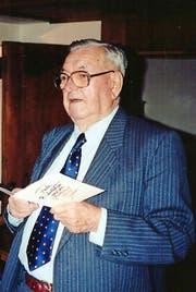 Immer authentisch und kraftvoll: Alois Hürlimann († 2003) würde heute seinen 100. Geburtstag feiern. Er führte stets eine kleine Agenda, auf deren erste Seite er seine Leitsprüche einzutragen pflegte. (Bild: PD)