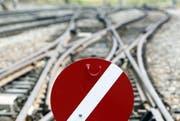 Unterbrüche gibt es zur Zeit beim Bahnverkehr zwischen Erstfeld und Altdorf. (Bild: Keystone / Urs Flüeler)