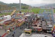Ein Blick auf die Fahrgeschäfte des Lunaparks. (Bild: Claude Hagen)