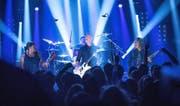 Metallica bei ihrem Auftritt im «Circus Halligalli». (Bild: Jörg Carstensen/EPA)
